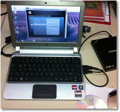 HP Netbook mit ohne Windows