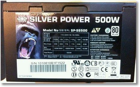 silver power 500w netzteil