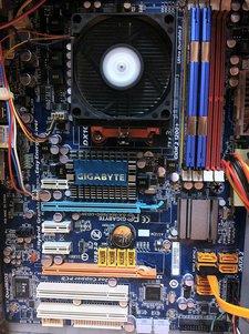 Gebrauchter Athlon x2 7750 PC Bild Board
