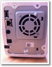 LG NAS N2A2 05 unboxing die rückseite ein luefter und alle wichtigen anschluesse